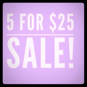 Other - 5 for $25 on all items 15 and under !